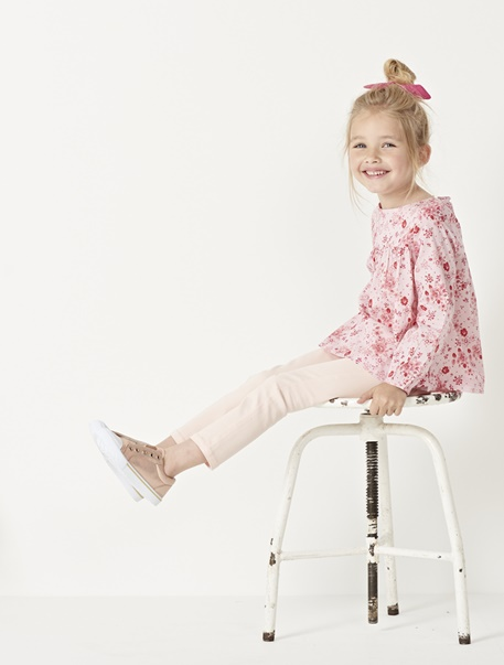 """Maedchenkleidung-Lookbook-Outfit """"Pastellrosé"""""""
