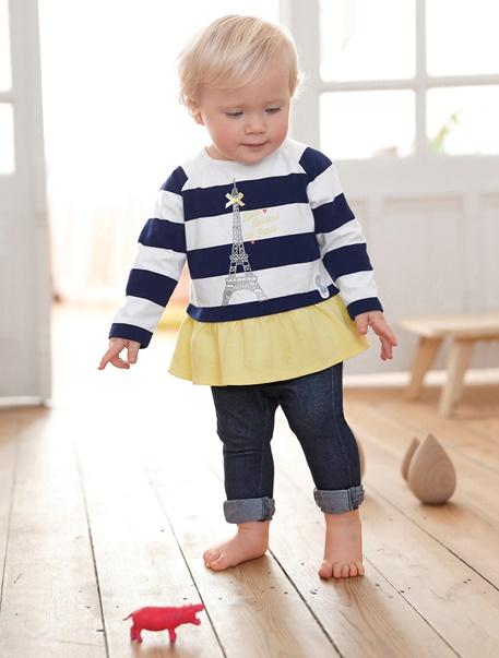 "Babymode-Lookbook Babys-Outfit ""Kleine Pariserin"""