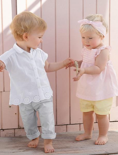 """Babymode-Lookbook Babys-Outfit """"Kleine Pastellprinzessin"""""""