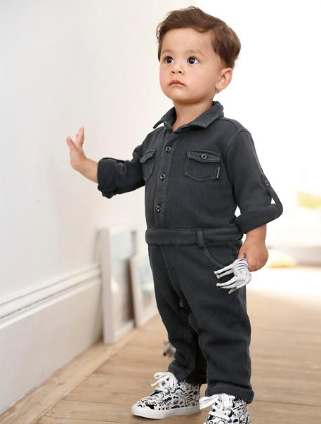 "Babymode-Lookbook Babys-Outfit ""Kleiner Baumeister"""