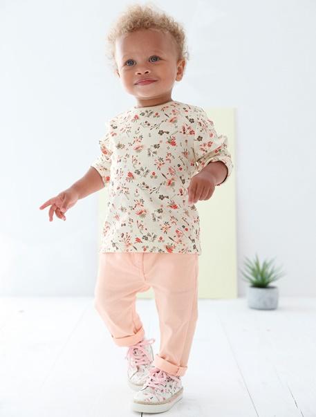 "Babymode-Lookbook Babys-Outfit ""Rosa Blümchen"""