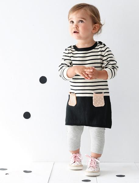 """Babymode-Lookbook Babys-Outfit """"Pünktchen & Streifen"""""""