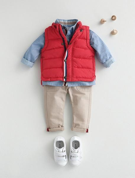 """Babymode-Lookbook Babys-Outfit """"Kleiner Feuerwehrmann"""""""