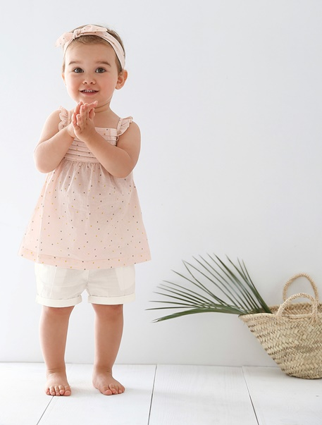 "Babymode-Lookbook Babys-Outfit ""Rosa Rüschen"""