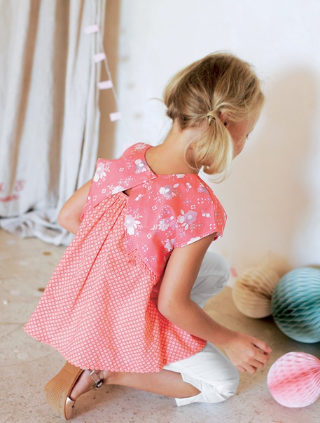 "Maedchenkleidung-Lookbook-Outfit ""Blütentraum"""