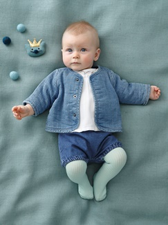 "Babymode-Lookbook Babys-Outfit ""Jeans-Look"""