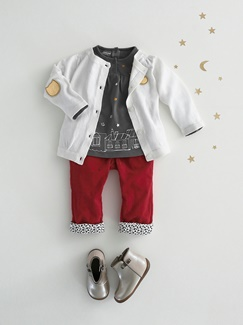 "Babymode-Lookbook Babys-Outfit ""Trendy in Rot & Weiß"""