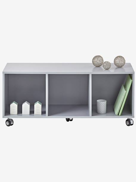 vertbaudet kinderzimmer sideboard mit rollen in grau. Black Bedroom Furniture Sets. Home Design Ideas