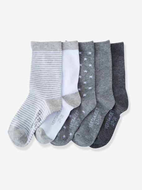 HAPPY PRICE 5er-Pack Socken für Kinder - PACK GRAU+PACK KORALLE+PACK MARINE+PACK ROSA - 1