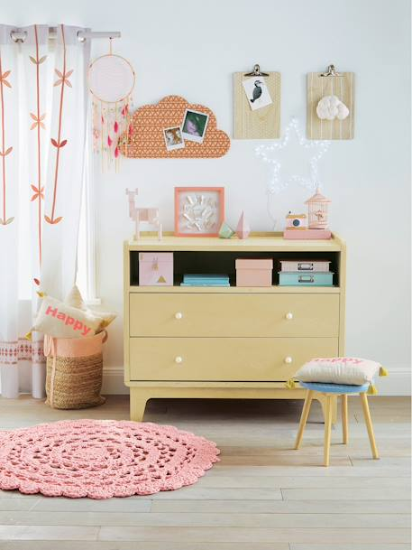 vertbaudet kinder pinnwand in wolkenform in beige rosa. Black Bedroom Furniture Sets. Home Design Ideas
