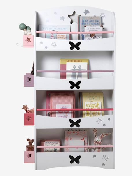 vertbaudet b cherregal mit schmetterlingen in wei. Black Bedroom Furniture Sets. Home Design Ideas