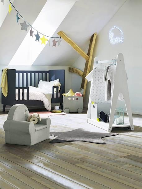 Vertbaudet Teppich in Sternform für Kinderzimmer in grau
