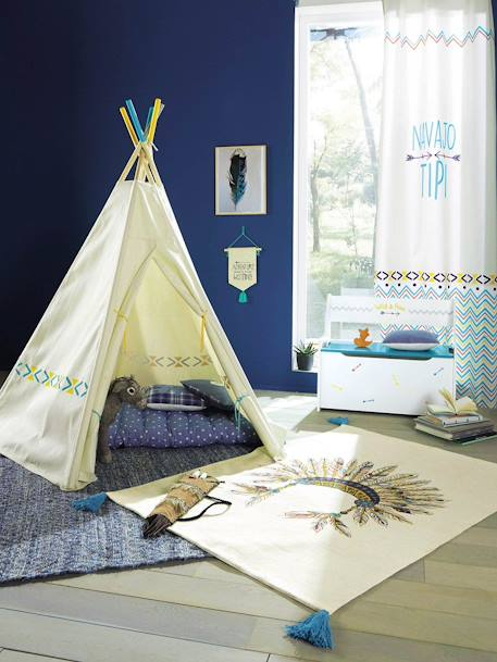vertbaudet tipi indianerzelt f r kinder in wollwei bedruckt. Black Bedroom Furniture Sets. Home Design Ideas