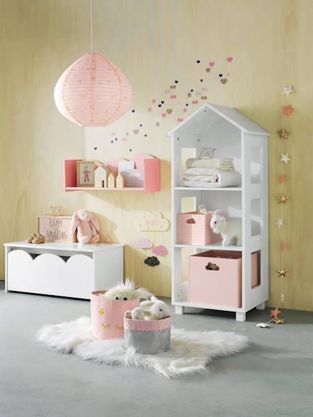 Vertbaudet Teppich in SchaffellOptik für Kinderzimmer in weiß