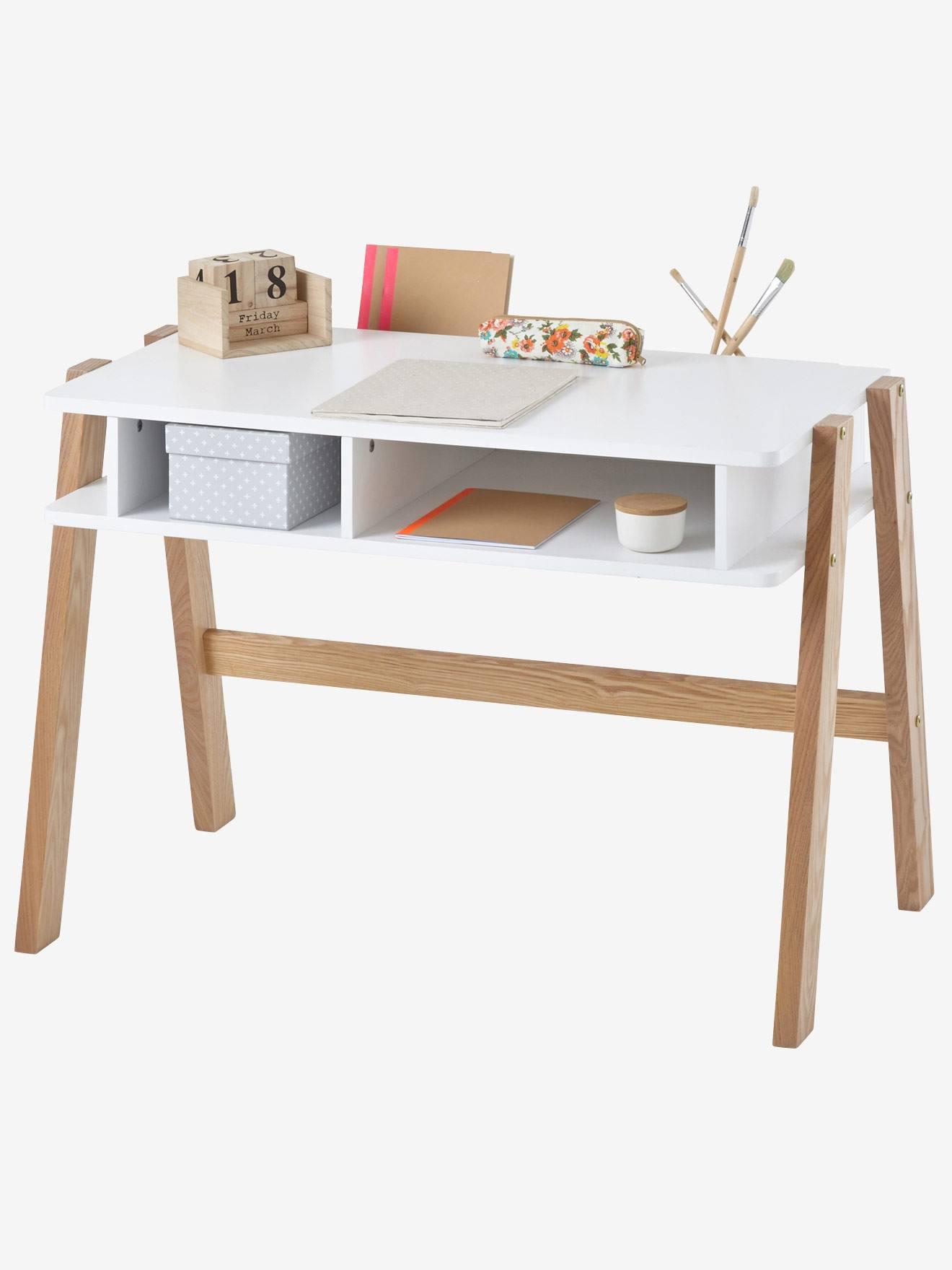 Schreibtisch architekt mini wei natur von vertbaudet for Mini schreibtisch