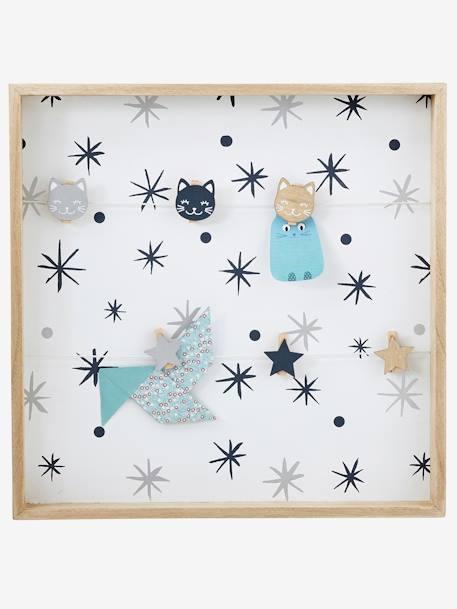 vertbaudet kinderzimmer pinnwand aus holz in natur wei. Black Bedroom Furniture Sets. Home Design Ideas