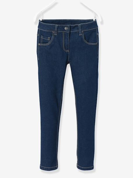HAPPY PRICE Slim-Fit-Jeans für Mädchen - DARK BLUE - 1