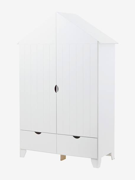 vertbaudet kinder kleiderschrank holiday in grau. Black Bedroom Furniture Sets. Home Design Ideas