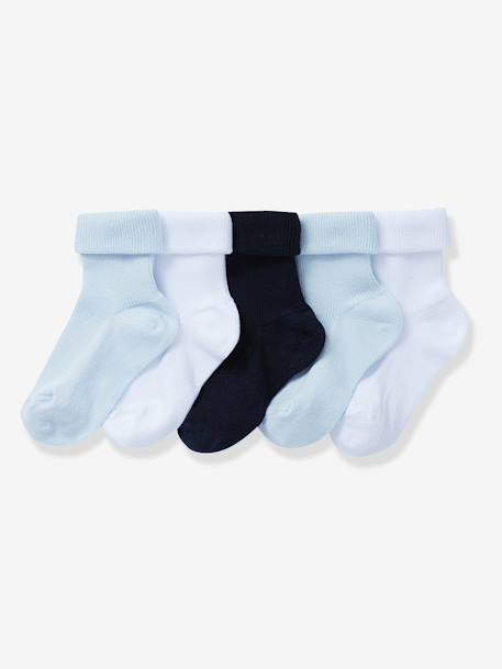 HAPPY PRICE 5er-Pack Socken für Babys - PACK BLAU+PACK GRAU+PACK ROSA - 1