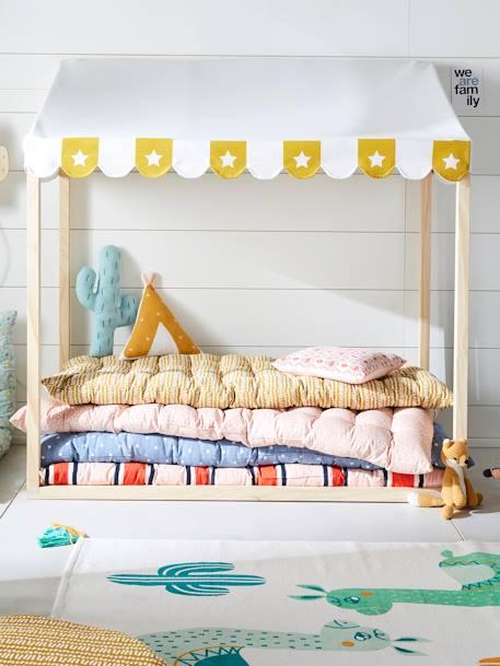 vertbaudet bodenmatratze reine baumwolle in rosa tupfen. Black Bedroom Furniture Sets. Home Design Ideas