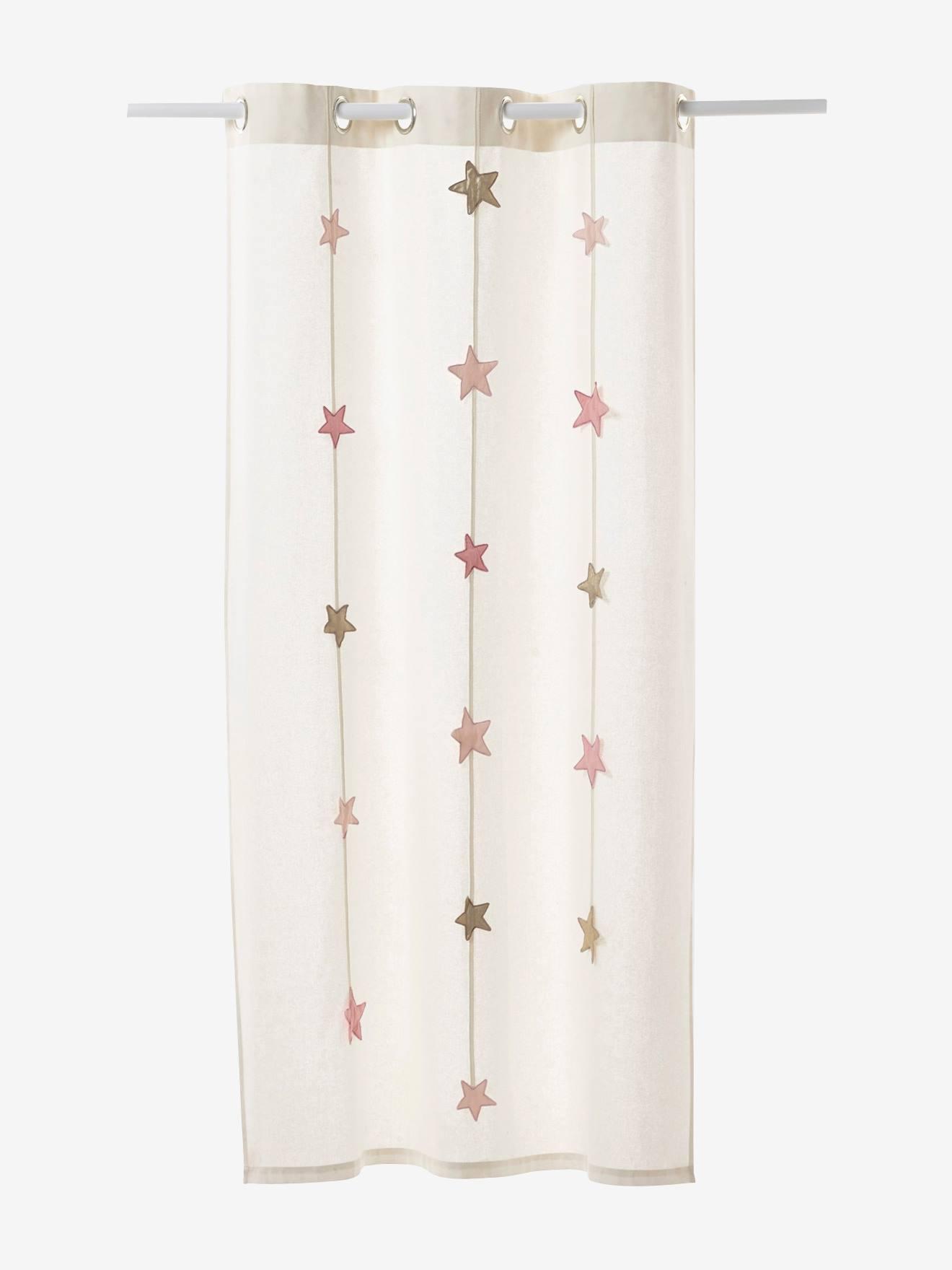 Vorhang sterne kinderzimmer  Vertbaudet Vorhang mit Sternen-Girlande in wollweiß
