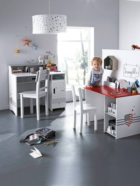 vertbaudet gro er lampenschirm f r kinderzimmer in wei. Black Bedroom Furniture Sets. Home Design Ideas