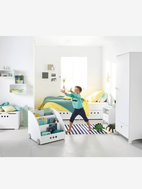 vertbaudet b cherregal sirius f r kinderzimmer in wei grau. Black Bedroom Furniture Sets. Home Design Ideas