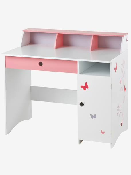 vertbaudet kinderschreibtisch mit schmetterlingen in wei. Black Bedroom Furniture Sets. Home Design Ideas
