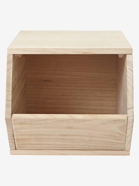 vertbaudet holz aufbewahrungsbox f r spielzeug in einfarbig hellweiss. Black Bedroom Furniture Sets. Home Design Ideas