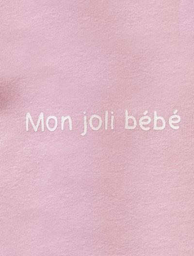 Jersey-Strampler für Babys - APRICOT+BLAU+GRAU+ROSA+WEIß - 8