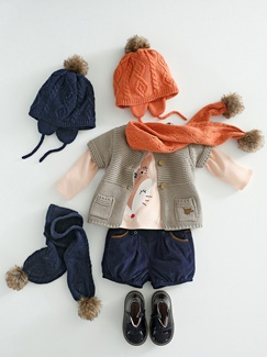"Babymode-Lookbook Babys-Outfit ""Schick in Strick"""