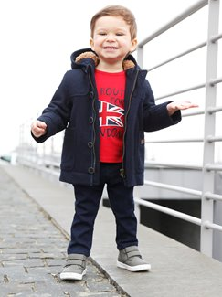 Babymode-Lookbook Babys-Outfit – England is calling