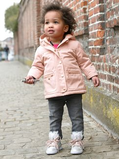 Babymode-Lookbook Babys-Outfit – Winterlich in rosa
