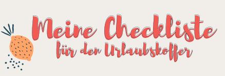 Ma checklist des vacances