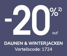 -20% auf Daunen & Winterjacken