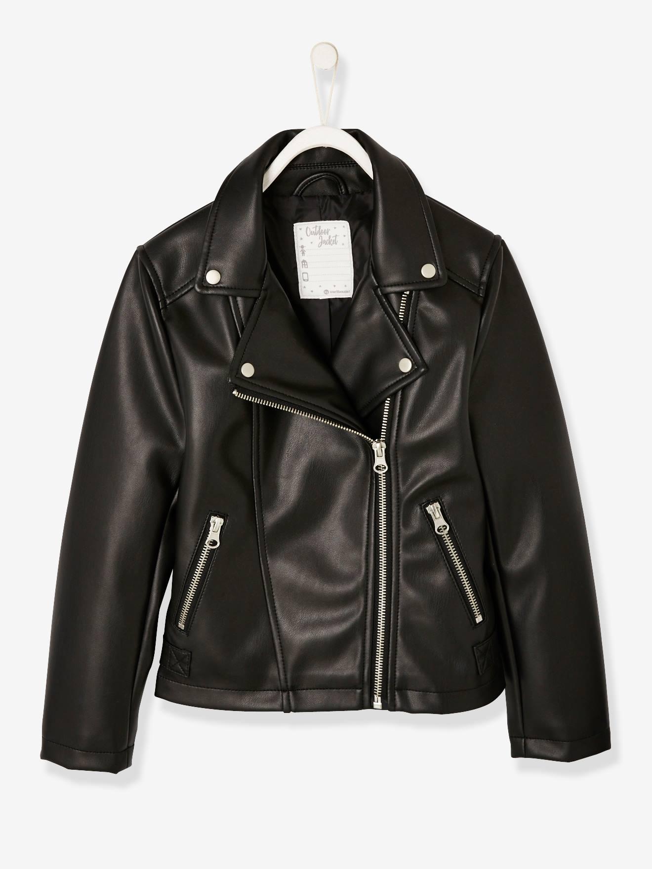 Mädchen Jacken Leder bequem online aussuchen vertbaudet