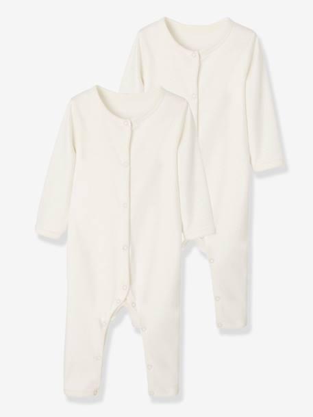 Vertbaudet 2er-Pack Baby-Bodys mit Bein