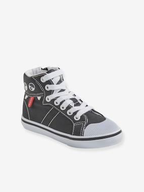 High Sneakers für Jungen, Anziehtrick schwarz Gr. 25 von vertbaudet