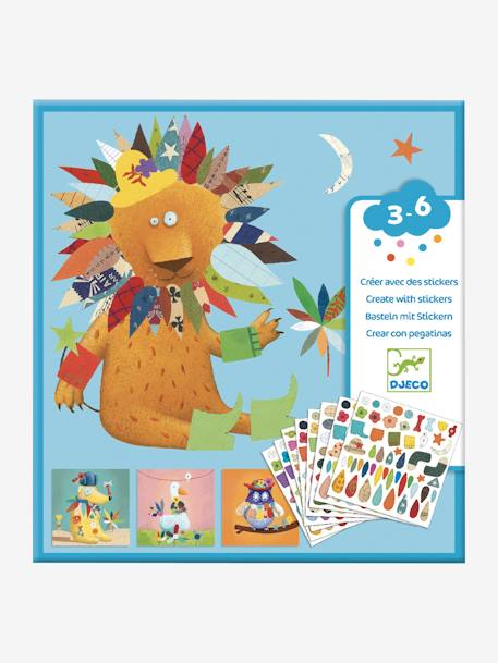 Djeco Sticker Bastel Set Tiere Von Djeco In Mehrfarbig