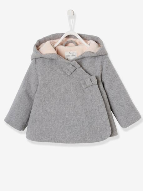 promo code 10d38 5aefa Vertbaudet Winterjacke für Baby Mädchen, Kapuze in hellgrau