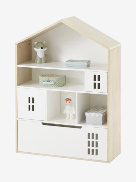 Vertbaudet Kinderzimmer-Schrank in natur/weiß
