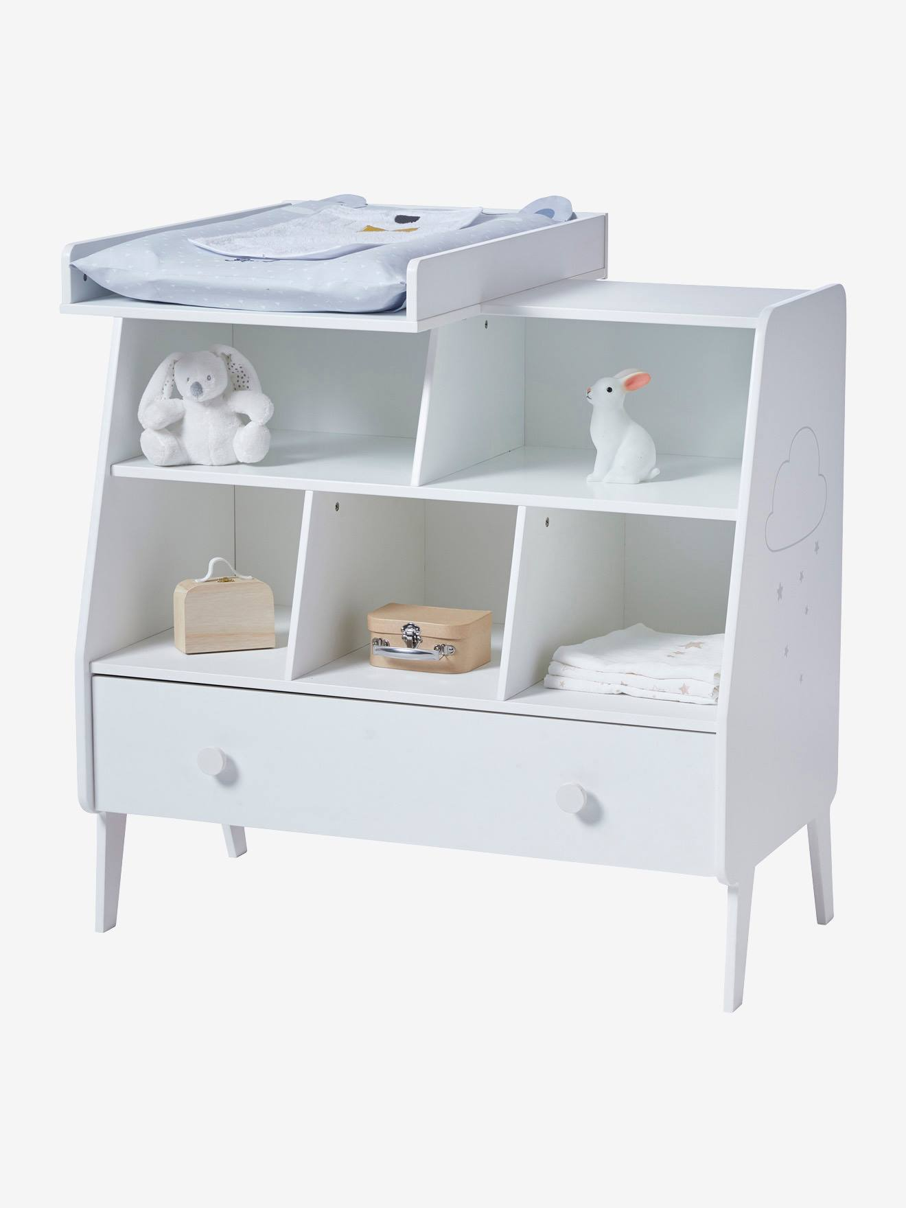 Vertbaudet Regal Fur Babyzimmer Traumwolke In Weiss