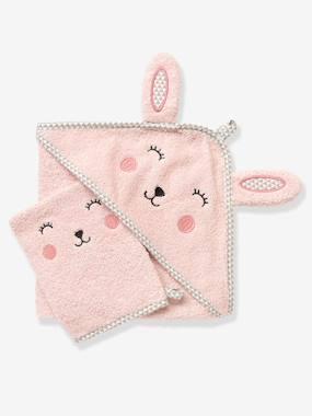 baby-badetuch-mit-waschhandschuh-tiere-hellrose-einfarbig-app-gro-e-70x70-von-vertbaudet