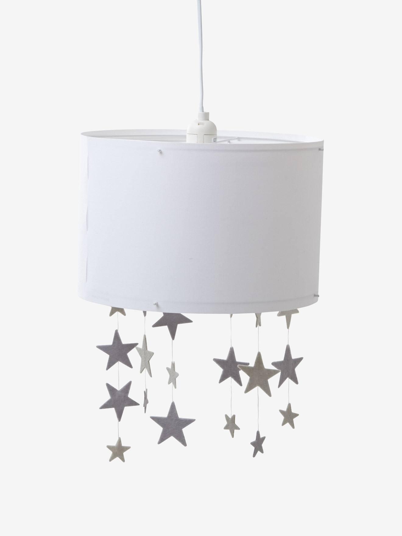 Kinderzimmer deko sterne  Vertbaudet Lampenschirm für Kinderzimmer in weiß/grau