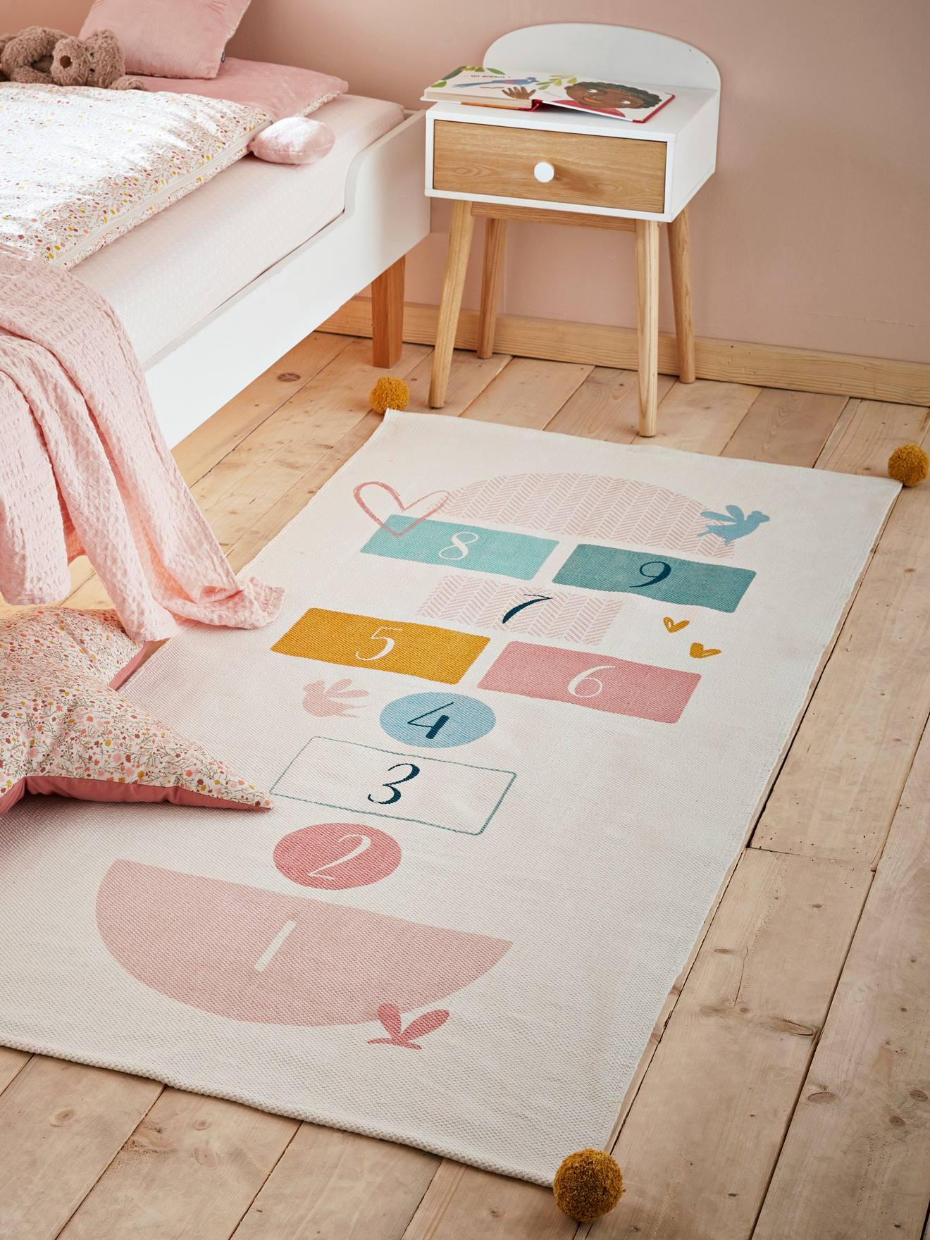 Vertbaudet Kinderzimmer-Teppich ,,Himmel und Hölle\