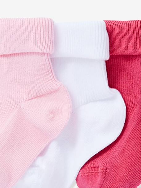 HAPPY PRICE 5er-Pack Socken für Babys - PACK BLAU+PACK ROSA - 3