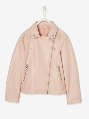Biker-Jacke für Mädchen rosa Gr. 92 von vertbaudet