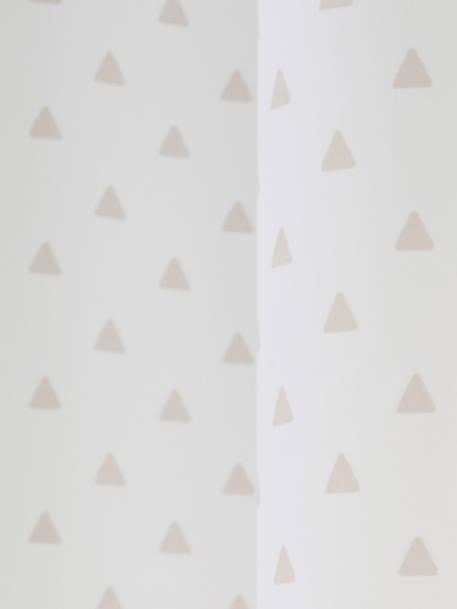 vertbaudet verdunkelungsvorhang f r kinderzimmer in wollwei dreiecke. Black Bedroom Furniture Sets. Home Design Ideas