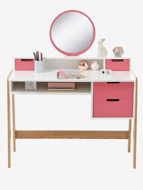 vertbaudet frisiertisch und schreibtisch f r m ddchen in wei rosa natur. Black Bedroom Furniture Sets. Home Design Ideas