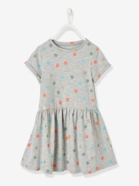 Shirtkleid für Mädchen grau punkte Gr. 146/152 von vertbaudet